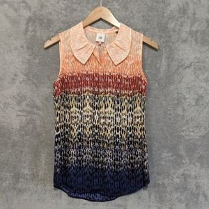 Cabi pink blue ombre sleeveless love blouse